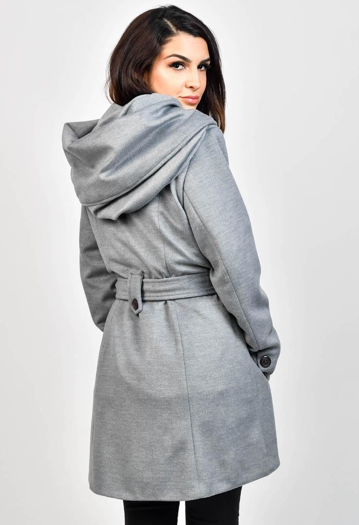 Mantel mit großer Kapuze – Bild 4