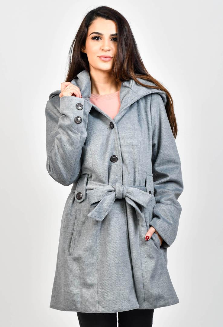Mantel mit großer Kapuze – Bild 2