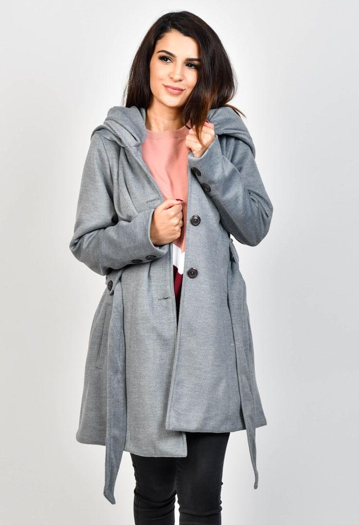 Mantel mit großer Kapuze – Bild 1
