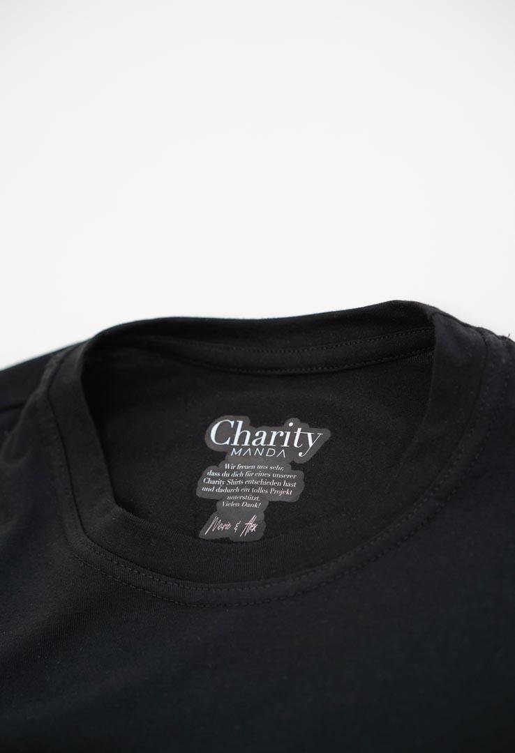 "T-Shirt "" Food-Friends"" in schwarz"