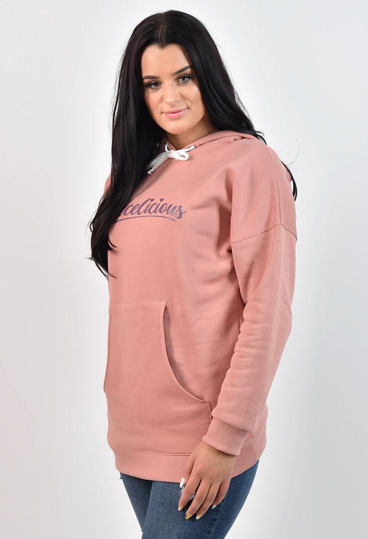 rosa Kapuzensweater – Bild 3