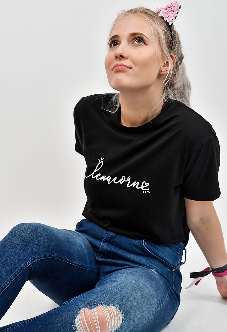 """T-Shirt in schwarz """"Lenacorn"""" – Bild 1"""