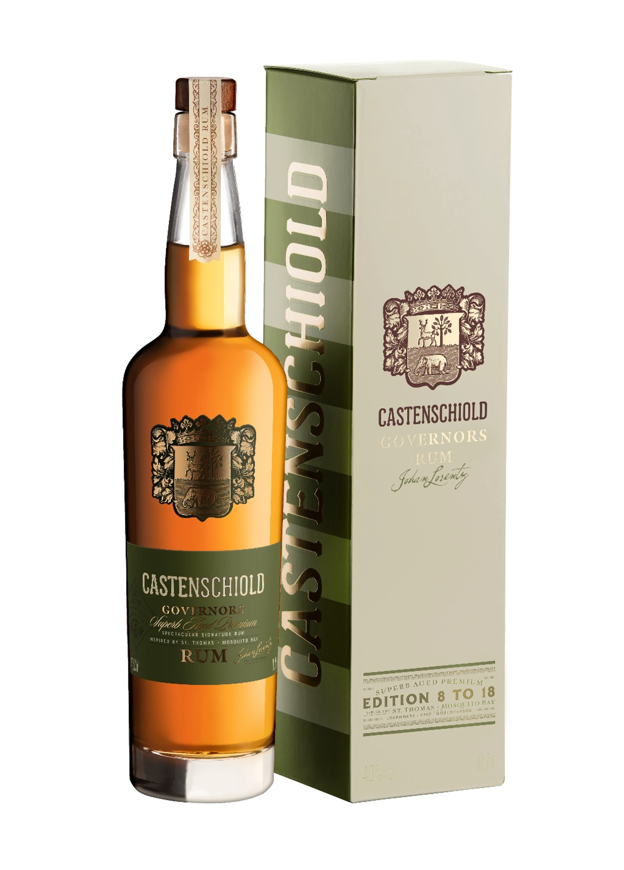 Castenschiold Governors Rum 0,7l 40 %Vol - EDITION 8 TO 18