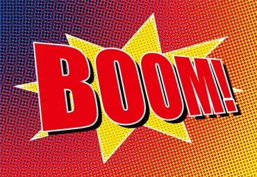 Papier Fototapete Boom Comic 368x254cm – Bild 1