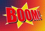 Papier Fototapete Boom Comic 368x254cm 001