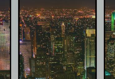 Papier Fototapete 3D-Panorama-Fensteransicht 368x254cm – Bild 3