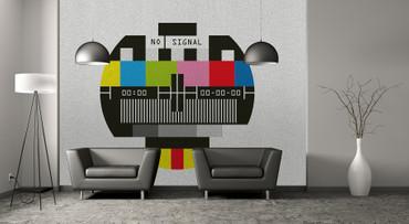 Papier Fototapete Kein Signal TV Old School 368x254cm – Bild 2