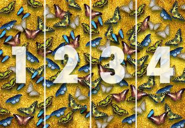 Papier Fototapete Schmetterlinge 368x254cm – Bild 4