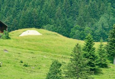 Papier Fototapete Schweizer Berge Gstaad II 368x254cm – Bild 3