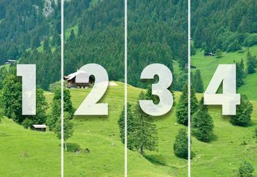 Papier Fototapete Schweizer Berge Gstaad II 368x254cm – Bild 4