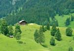 Papier Fototapete Schweizer Berge Gstaad II 368x254cm 001