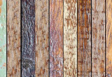 Papier Fototapete Vintage Holzwand Farbig 368x254cm – Bild 3