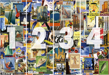 Wall Mural Vintage Travel Poster Non-Woven 368x254cm – Bild 4