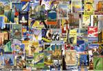 Vlies Fototapete Vintage Reise Poster 368x254cm 001