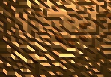 Vlies Fototapete 3D Kristall Gold 368x254cm