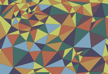 Vlies Fototapete Kunst Polygone 1 368x254cm