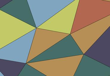 Vlies Fototapete Kunst Polygone 1 368x254cm – Bild 3