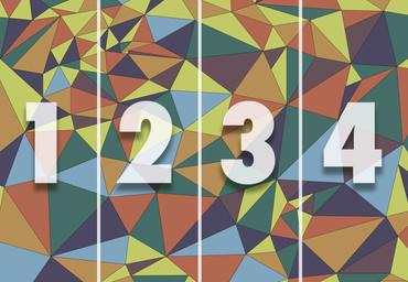 Vlies Fototapete Kunst Polygone 1 368x254cm – Bild 4