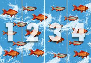Wall Mural Gold Fishes Vintage Non-Woven 368x254cm – Bild 4
