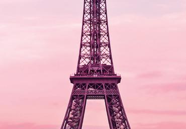 Vlies Fototapete Eiffelturm bei Sonnenuntergang 368x254cm – Bild 3