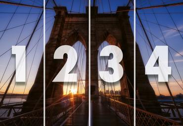 Vlies Fototapete Brooklyn Bridge USA 368x254cm – Bild 4
