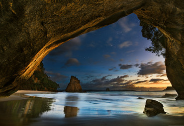 Vlies Fototapete Cathedral Cove in Neuseeland 368x254cm
