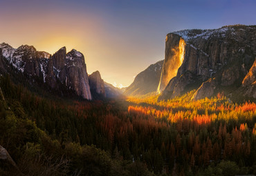 Vlies Fototapete Yosemite Nationalpark USA 368x254cm – Bild 1