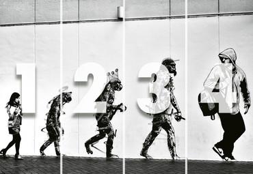 Vlies Fototapete Street Art Entwicklung 368x254cm – Bild 4