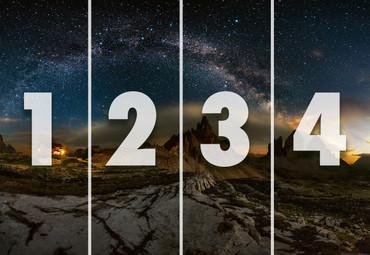 Vlies Fototapete Dolomiten und Sternenhimmel 368x254cm – Bild 4