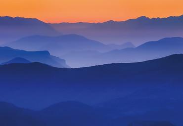 Vlies Fototapete Berge 368x254cm – Bild 3