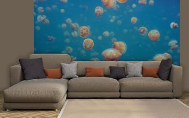 Vlies Fototapete Quallen Unterwasser Meer 368x254cm – Bild 2
