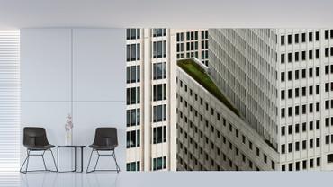 Vlies Fototapete Architektur weißes Hochhaus 368x254cm – Bild 2