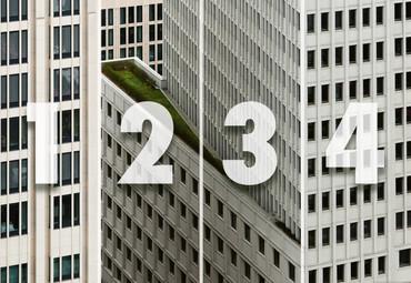 Vlies Fototapete Architektur weißes Hochhaus 368x254cm – Bild 4