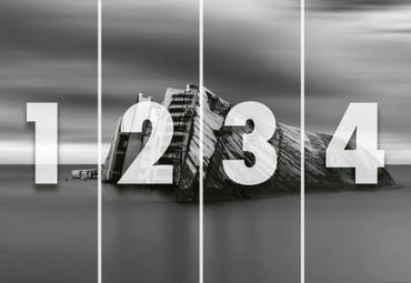 Vlies Fototapete Modernes Wrack 368x254cm – Bild 4