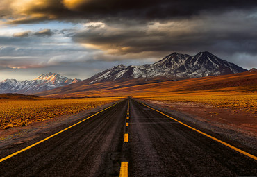 Wall Mural Road Atacama Non-Woven 368x254cm – Bild 1