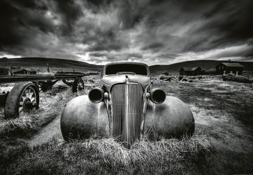 Vlies Fototapete Altes klassisches Auto 368x254cm – Bild 1