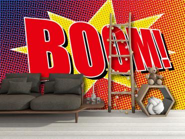 Vlies Fototapete Boom Comic 368x254cm – Bild 2