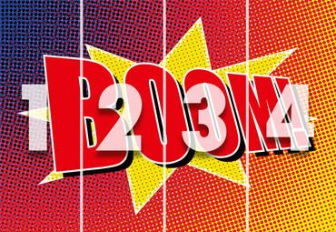 Vlies Fototapete Boom Comic 368x254cm – Bild 4