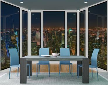 Vlies Fototapete 3D-Panorama-Fensteransicht 368x254cm – Bild 2
