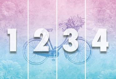 Vlies Fototapete Groovy Vintage Fahrrad 368x254cm – Bild 4