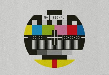 Vlies Fototapete Kein Signal TV Old School 368x254cm – Bild 1