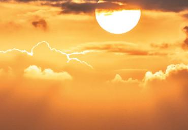 Vlies Fototapete Meerblick Terrasse bei Sonnenuntergang 368x254cm – Bild 3