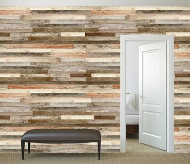 Vlies Fototapete Holzwand Roter Farbton 368x254cm – Bild 2