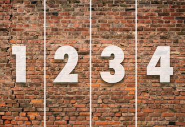Vlies Fototapete Backsteinmauer rot 368x254cm – Bild 4