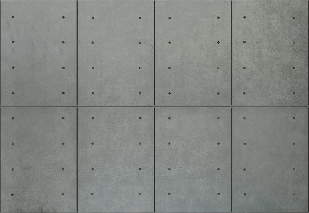 Wall Mural Modern Concrete Wall Non Woven 368x254cm Non Woven Wall