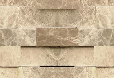 Wall Mural 3D Stone Wall Non-Woven 368x254cm – Bild 3