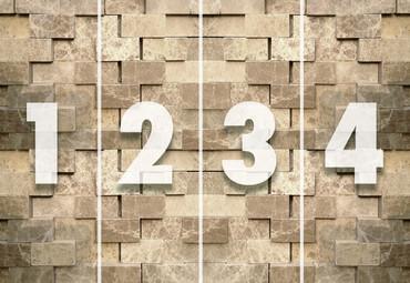 Wall Mural 3D Stone Wall Non-Woven 368x254cm – Bild 4