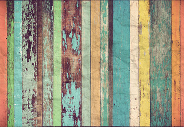 Mural Colored Wooden Wall – Bild 2