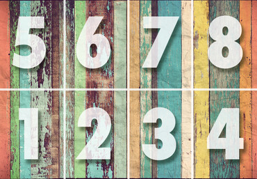 Mural Colored Wooden Wall – Bild 4