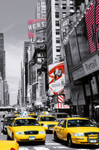 XXL Poster New York Gelbe Taxis Time Square 001
